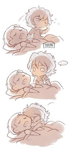 Keith had a nightmare so he is clinging to his boyfriend