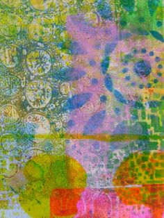 Great colors and texture!  Frieda Oxenham, award winning textile and mixed media artist : Gelli Plate Print