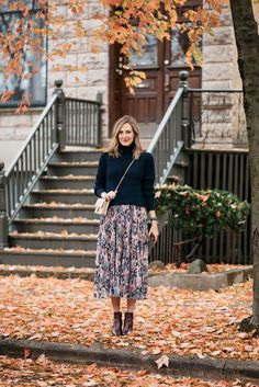 SeeAnnaJane.com: skirt (similar here and less expensive version here ), similar sweater (also similar) , booties ( similar here and less expensi...