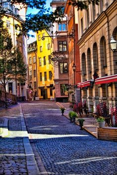 Cobblestone Street, Stockholm, Sweden
