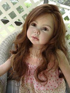 "Sweet Face!~Gerlinde Feser Kit Elisa~Now ""Sofia Christina""~Le Ruban Rose Nursery -"