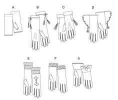 Butterick 5370 -- historical costume gloves