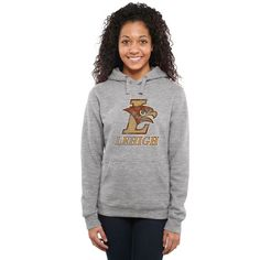 Lehigh Mountain Hawks Women's Classic Primary Pullover Hoodie - Ash - - $64.99