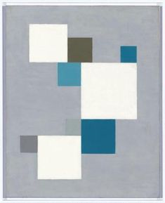 1926 Composition with a Blue Square - Carl Buchheister (1890-1964)