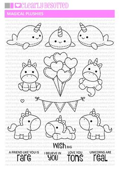 This is a inch clear stamp set. Approximate Measurements: Front Facing Seal - x inches Tree Island - x inches Umbrella - x inches Cute Easy Drawings, Art Drawings For Kids, Doodle Drawings, Kawaii Doodles, Cute Doodles, Cute Doodle Art, Tier Doodles, Griffonnages Kawaii, Tampons Transparents