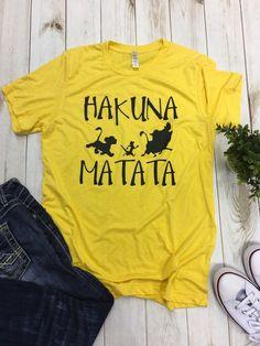 Disney shirts Hakuna Matata Lion King Animal Kingdom tee shirt t-shirt top family vacation Disney shirts Hakuna Matata Lion King Animal Kingdom tee shirt t-shirt top family vacation Disney Outfits, Cute Outfits, Disney Clothes, Lion King Animals, Top Family Vacations, Lion King Shirt, Lion King Hakuna Matata, Disney Shirts For Family, Tee Shirts