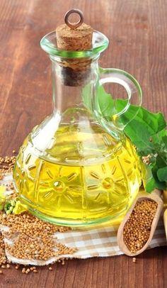 Zdjęcie 10 genialnych metod na pozbycie się żylaków w naturalny sposób! #4 Mustard Oil, Healthy Oils, Benefit, Food, Essen, Meals, Yemek, Eten