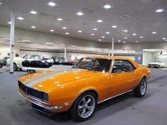 AutoTrader Classics - 1968 Chevrolet Camaro Coupe Orange 8 Cylinder Manual | Muscle & Pony Cars | Troy, MI