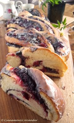 Twisted Poppy Seed Loaf with Sour Cherry Jam & Rum Glaze