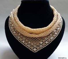 "beaded ""scarf necklace"" - follow link to schema.  ~ Seed Bead Tutorials"
