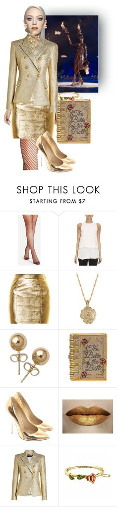 """""""Lumere as a person"""" by softbell ❤ liked on Polyvore featuring Disney, Theory, Yves Saint Laurent, 2028, Bling Jewelry, Judith Leiber, Giuseppe Zanotti, Balmain, Kate Spade and BeautyandtheBeast"""