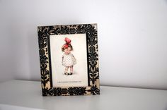 Wood Box Decoupage Fleur de lis pattern and photo frame  Handmade box with decoupage technique.  Its a handmade wooden box with Fleur de lis