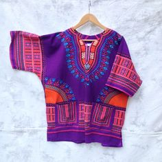 African DASHIKI  Bohemian Hippie blouse. Festival Tunic by Chicaluna