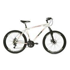 c2d39ecbeadd9 Bicicleta 26 Alumínio Krs Freio À Disco 21v Kit Shimano - Branco - Compre  Agora