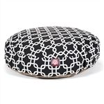 Small Round Pet Bed Black Links