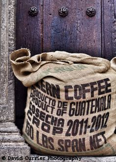 """""""Antigua Arabica"""". One of the main exports in #Guatemala is #coffee. Good coffee (from what I am told). Some of the best is grown on small farms and plantations right here in the #Antigua area and is also available for purchase throughout the city.  Available as a 5 x 7 photo framed in an 11 x 14 white mat board.  $40 within Guatemala. $45 within the United States (shipping included).  Place your orders by emailing me at davidcurrierphotography@gmail.com #DavidCurrierPhotography"""