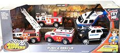 RUSH  RESCUE Emergency Vehicle Set 5 Vehicle Play Set *** Want to know more, click on the image.Note:It is affiliate link to Amazon.