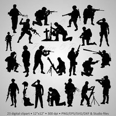 Discover recipes, home ideas, style inspiration and other ideas to try. Army Tattoos, Military Tattoos, Warrior Tattoos, 3d Tattoos, Tattoo Ink, Sleeve Tattoos, Silhouette Painting, Silhouette Clip Art, Tattoo Militar