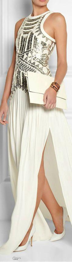 Sass & Bide ● Embellished mesh & silk gown