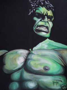 The Hulk Original Art Print 11x14 by Erik Pinto | eBay