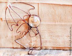 Interior handmade. Fair Masters - handmade stained glass angel with umbrella. Handmade.