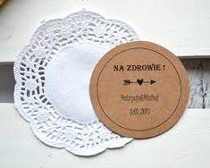 Znalezione obrazy dla zapytania winietki styl rustykalnym Decorative Plates, Impreza, Frame, Wedding, Home Decor, Liquor, Casamento, Room Decor, Frames