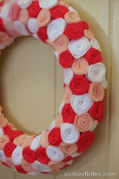 Weekend Crafting: Valentine Rosette Wreath | Our Best Bites