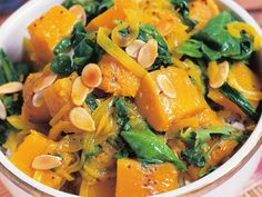 Savoury and deeply satisfying, this vegetable curry is great as part of a banquet or as a meal on its own. Pumpkin Recipes, Veggie Recipes, Indian Food Recipes, Cooking Recipes, Healthy Recipes, Ethnic Recipes, Veggie Food, Healthy Meals, Pumpkin Curry