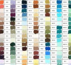 Unison Pastels Hand-Painted Colour Chart…