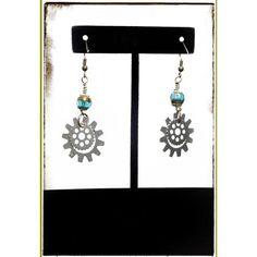 Elegant Steampunk Gear Dangles | Gear Dangle Earrings | Victorian Earrings | Steampunk Jewelry | Silver, Bronze, Gold and Blue | Unique Find