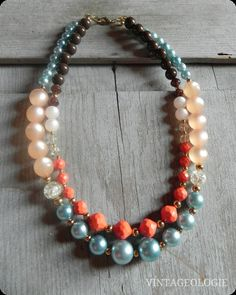 Vintageologie Necklace No7 $37.50  Anthro inspired jewelry/accessories