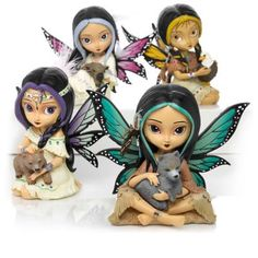 First-ever collection of fairies and their spirit guides showcasing the artistry of Jasmine Becket-Griffith. Handcrafted limited editions.