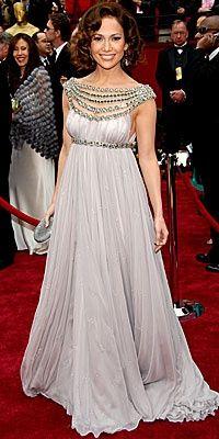 Modern Goddess: Jennifer Lopez: Beaded Grecian Gown
