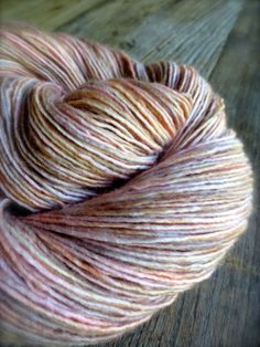 scallop hand dyed yarn superwash merino wool by pancakeandlulu