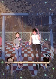 Myeong-Minho is a South Korea-based illustrator who draws beautiful, romantic moments of couples lives. Cute Couple Drawings, Cute Couple Art, Anime Love Couple, Illustration Art Nouveau, Couple Illustration, Trendy Wallpaper, Cute Wallpapers, Anime Couples, Cute Couples