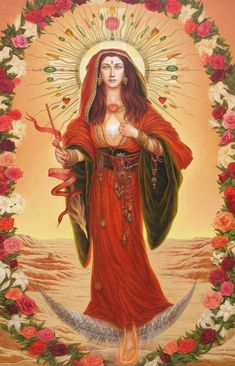Santa Maria, Mary Magdalene And Jesus, Spirit Magic, Juan Pablo Ii, Spiritual Images, Religious Paintings, Divine Mother, Sacred Feminine, Catholic Art