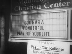 God has a wonderful plan for your life!