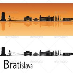 Bratislava Skyline Bratislava skyline in orange background in editable vector file Created: GraphicsFilesIncluded: VectorEPS Layered: No MinimumAdobeCSVersion: CS Tags: architecture Bratislava, City Sky, Orange Background, City Maps, Logo Images, Vintage Travel Posters, String Art, Website Template, Graphic Prints