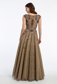 All Over Lace Metallic Applique Beaded Dress from Camille La Vie and Group USA