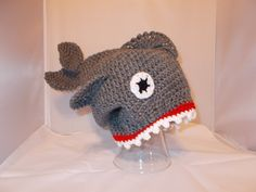OMG  There's a SHARK on my head hat FREE shipping. $30.00, via Etsy.