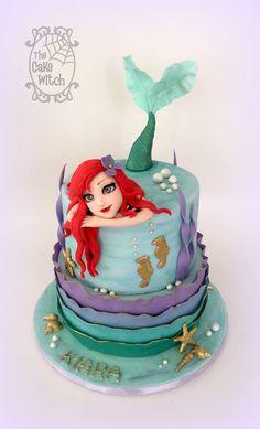 Ariel theme birthday cake