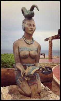 Isla Mujeres - Ixxhel, Mayan Goddess of fertility, reason, medicine, happiness and the moon.