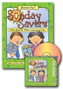sunday savers book or CD-ROM, activities for primary sunbeam manual 1, two activities per lesson