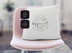 Pillow with personalized love declaration handprinted. Have your names added. Ideal for Valentine´s or as a birthday gift that expresses your love