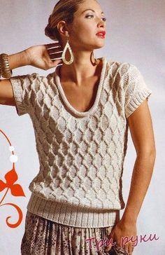 Fotos de punto suéteres diamantes