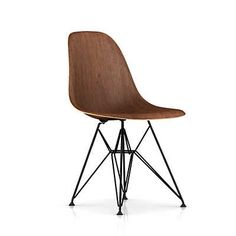 Show details for Eames Molded Wood Side Chair with Wire Base by Herman Miller