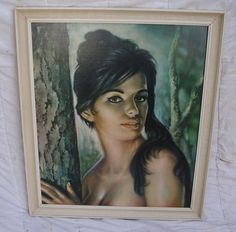 Original Vintage Retro 'Tina' Large Kitsch and cool Artwork/Print by JH Lynch. by ModBotherers on Etsy Artwork Prints, Cool Artwork, Framed Art Prints, Vintage Frames, Vintage Prints, Retro Vintage, Kitsch Art, Retro Girls, Exotic Women