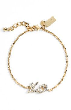 kate spade new york kate spade new york 'xo' bracelet available at #Nordstrom