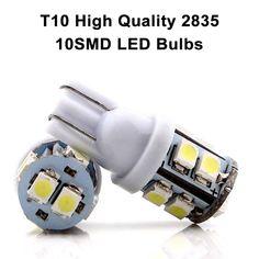 10pcs White 3-SMD 5050 LED Bulb fit Car Interior Dome Map Lights 12V 6000k USA
