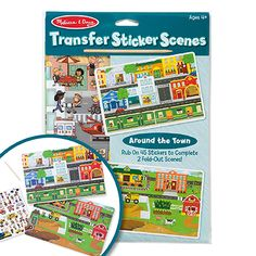 Bring the town to life by rubbing dozens of stickers onto two illustrated scenes. Position the transfer sheet of stickers and use the wooden stylus to rub on the back, then peel away to reveal the animal or object you have transferred onto the scene. Transfer stickers help to develop fine motor skills and provide sensory feedback on how hard to press which helps with handwriting. Melissa & Doug, Cause And Effect, Sensory Toys, Thinking Skills, Family Games, Fine Motor Skills, Stylus, Handwriting, Style